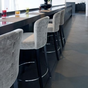 Polished concrete restaurant floor