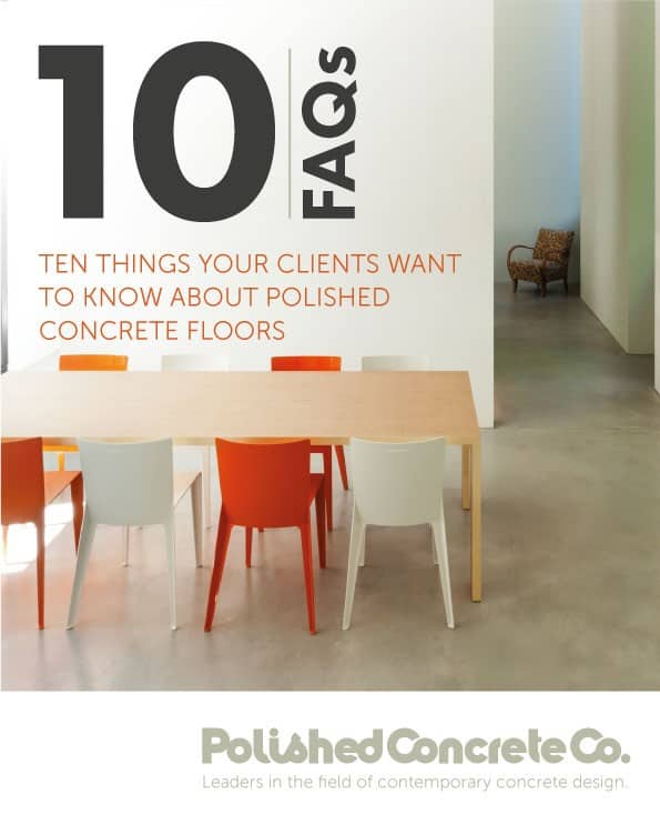 10 FAQ's about polished concrete