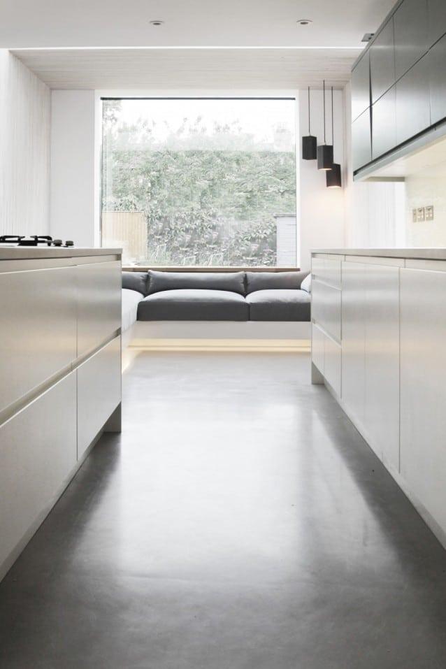 Seamless Kitchen Floor