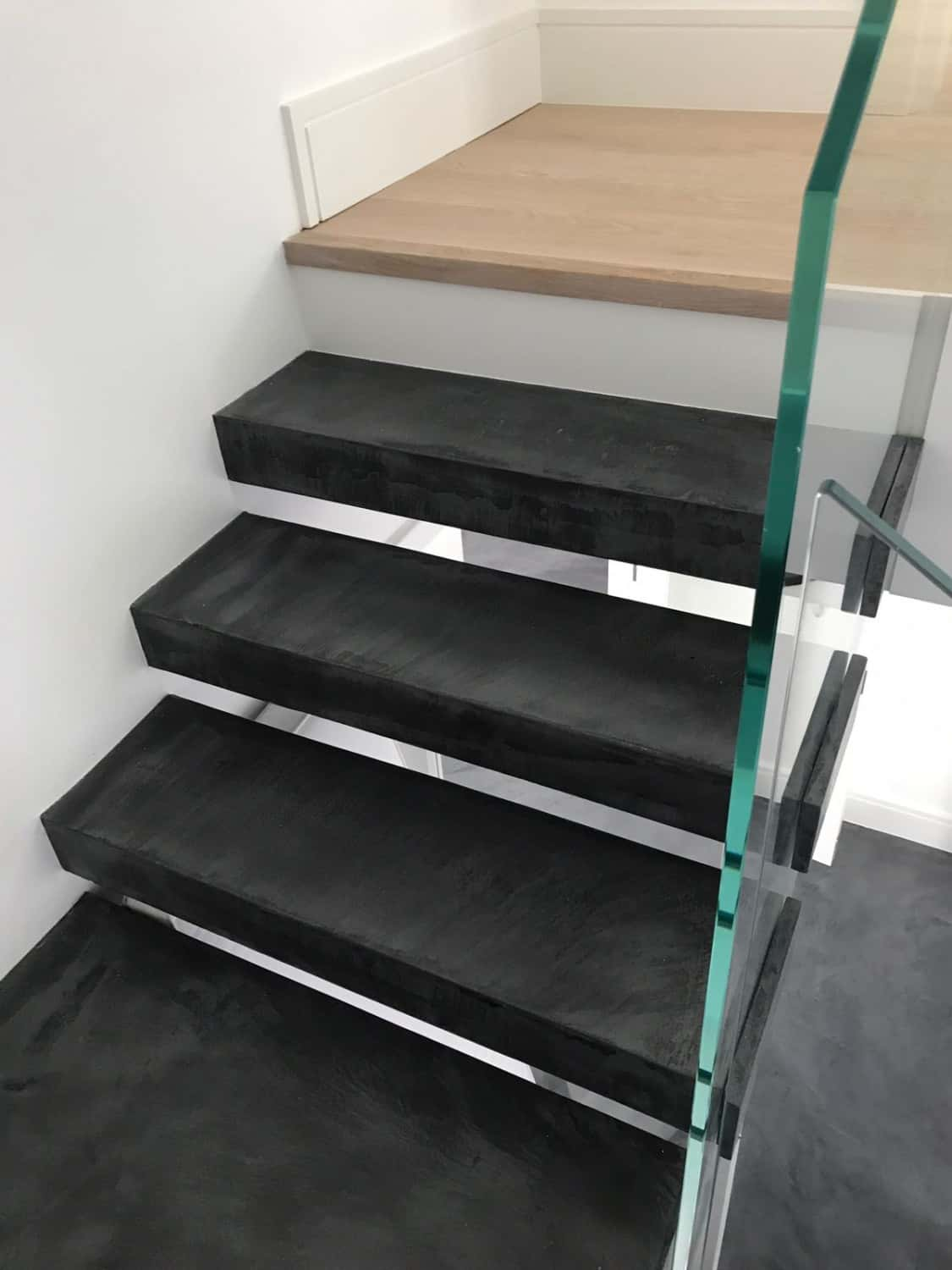 Open plan stair case