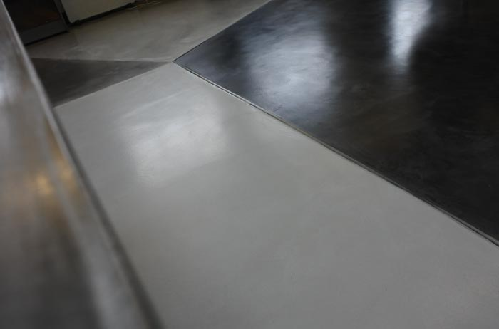 Close up of polished concrete floor.