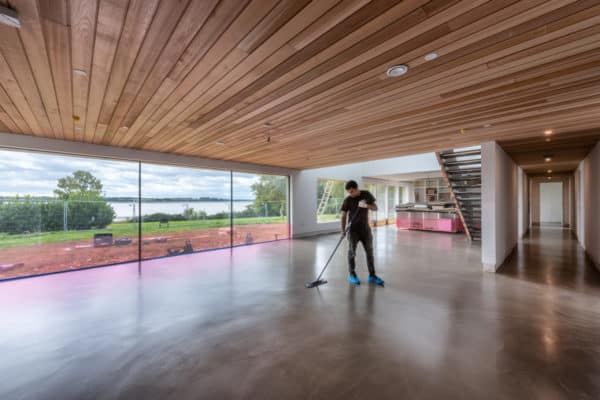 View F. Ball helps create natural finish at lakeside residential property