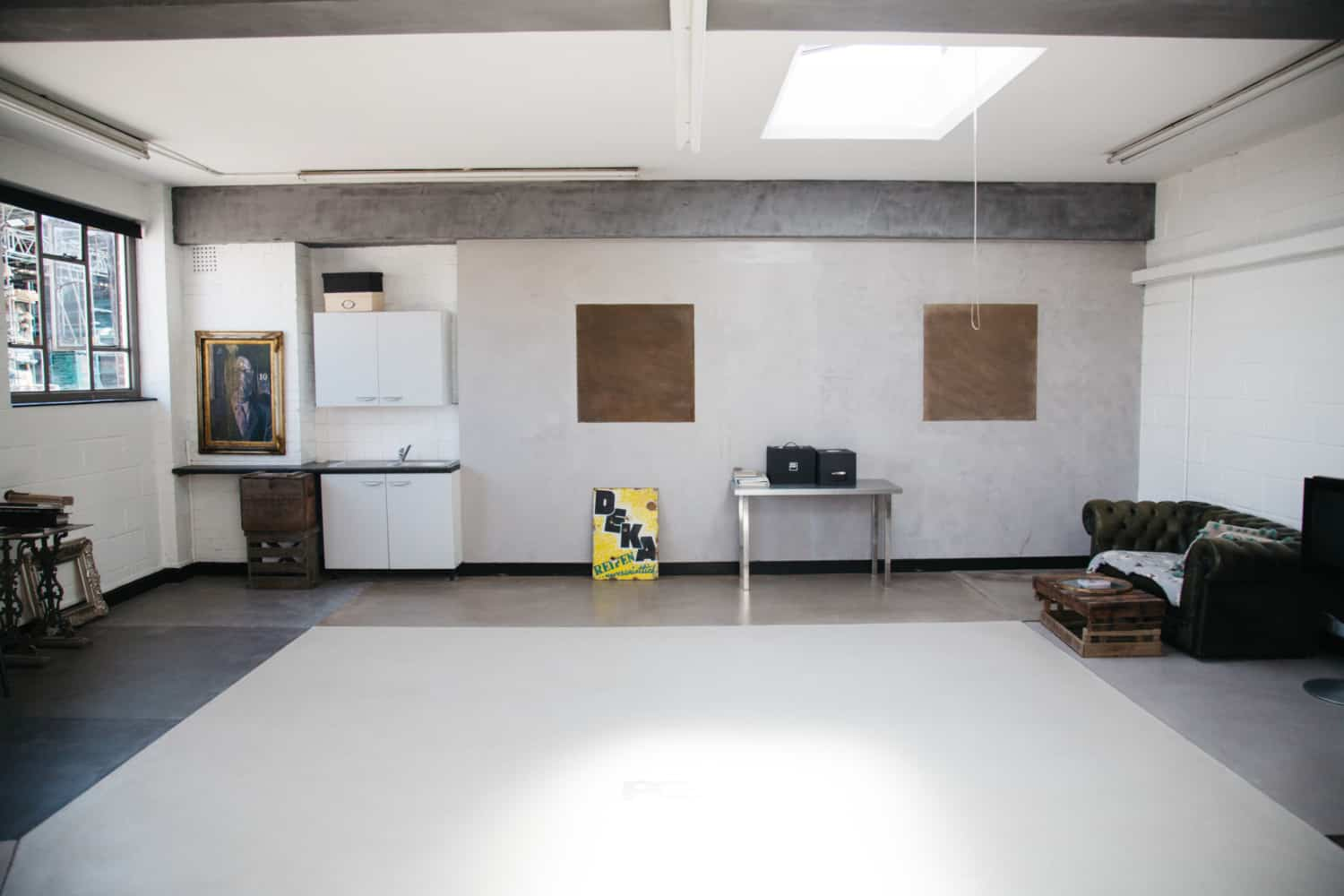 Room set from Polished Concrete Showroom.