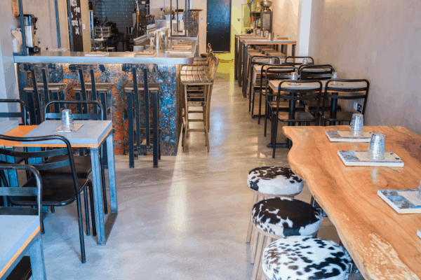 View Restaurant flooring contractors refurbish London restaurant