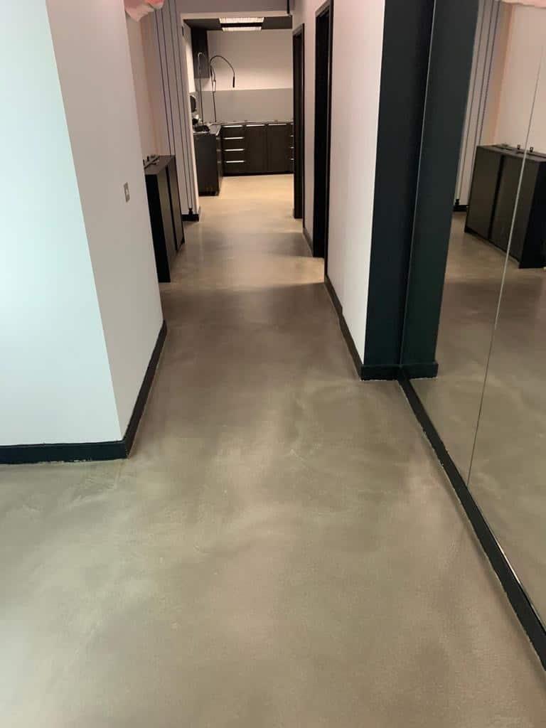 Concrete corridor