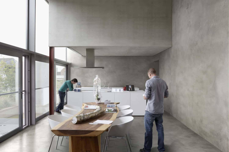 Modern polished concrete interior