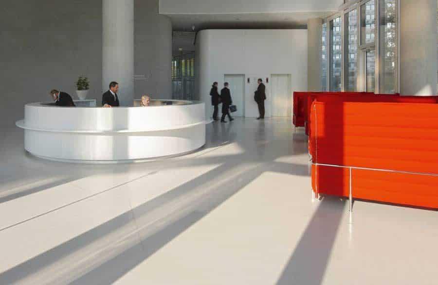 Commercial polished concrete floor