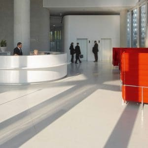 Commercial polished concrete floor