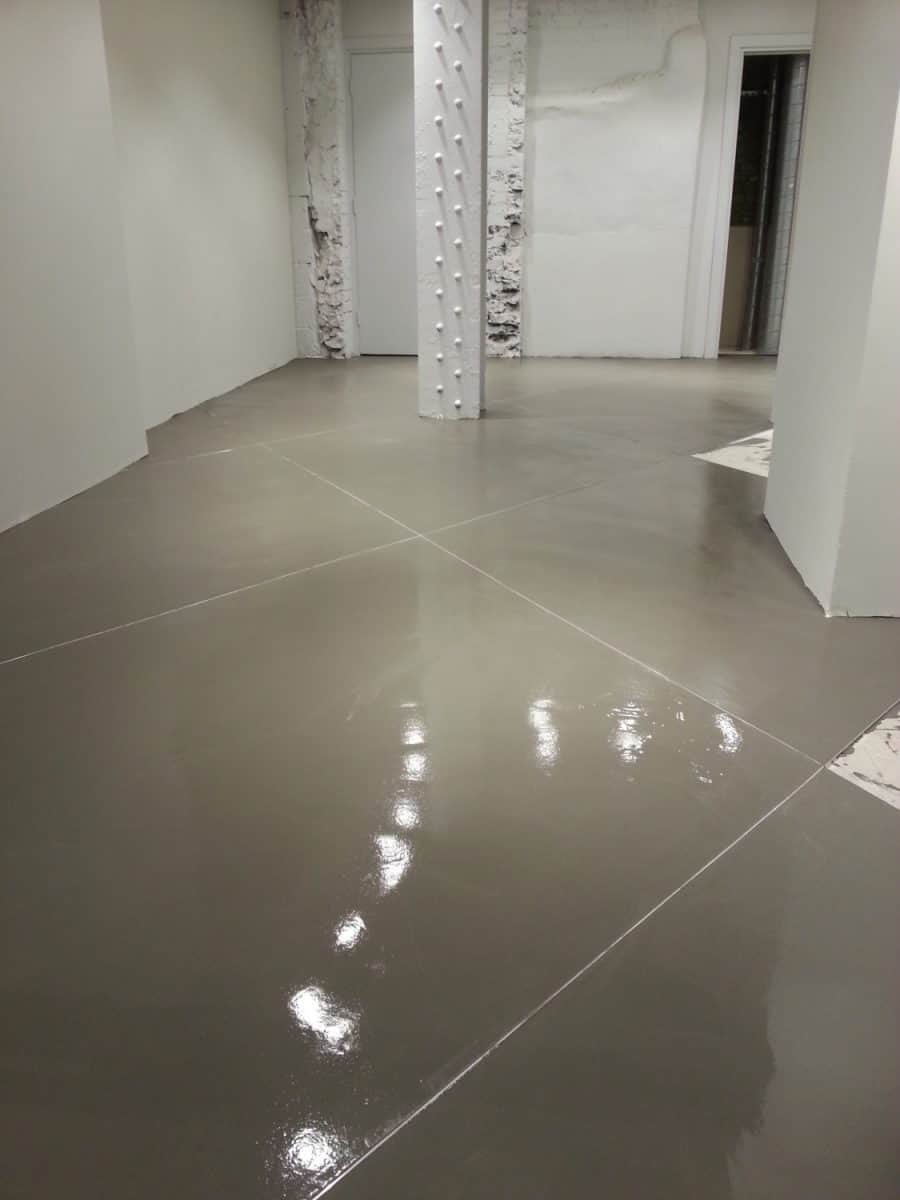 Laying a polished concrete floor in Lyle and Scott