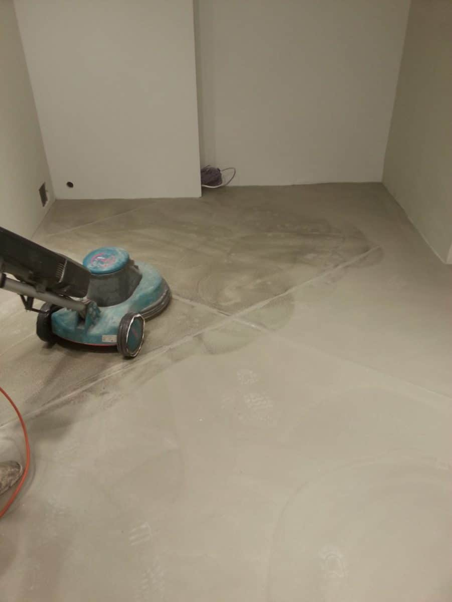Installing a polished concrete floor at Lyle and Scott