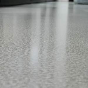 polished concrete floor in a private residence in Surrey