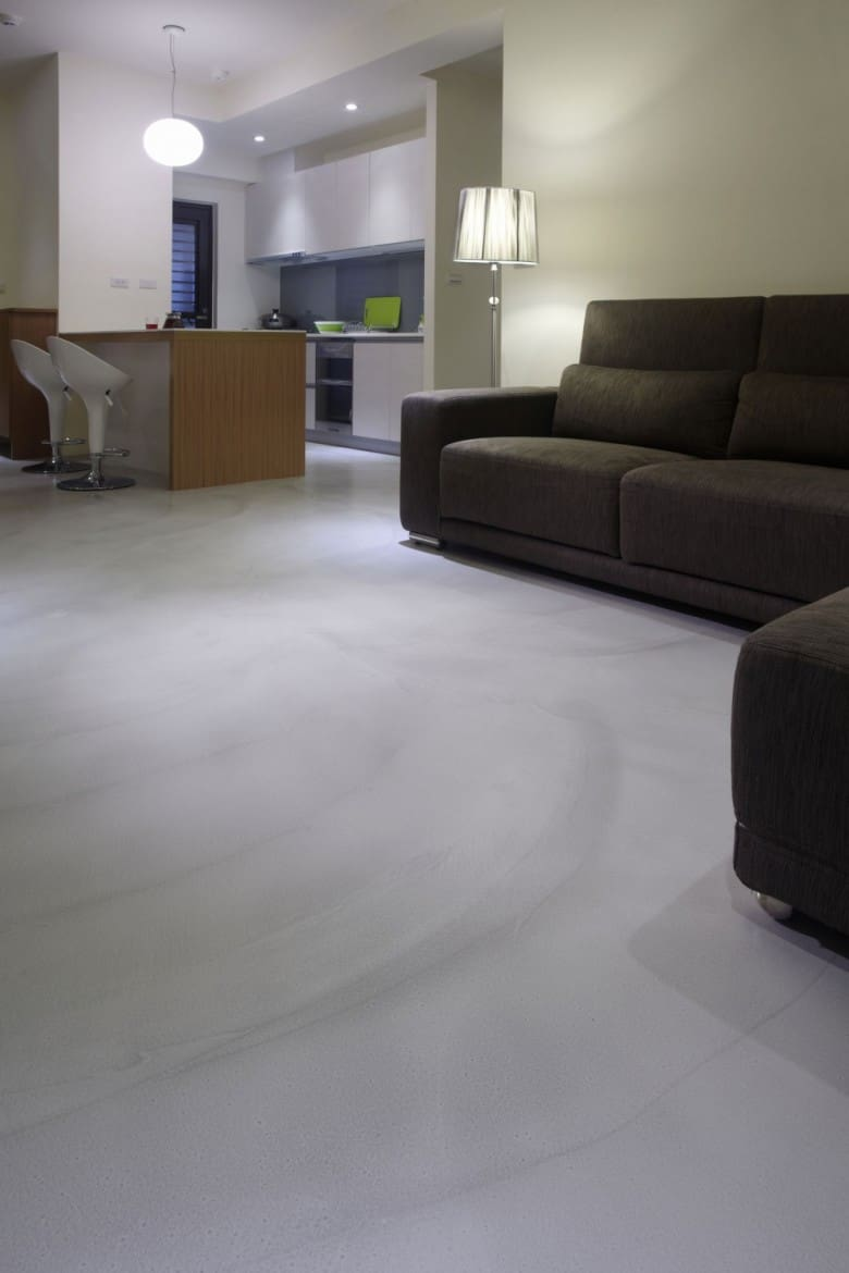 Polished concrete maintenance for living room floors