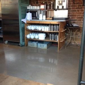 Polished concrete floor in Petersham Nursery, Richmond