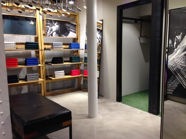 Polished concrete floors in Lyle and Scott