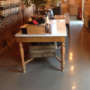 Polished concrete floor in Petersham Nursery, Richmond