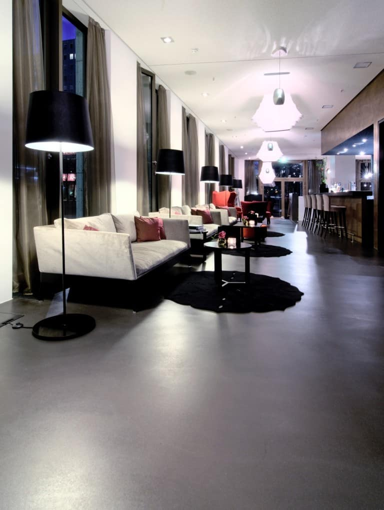Polished Concrete Hotel Floor