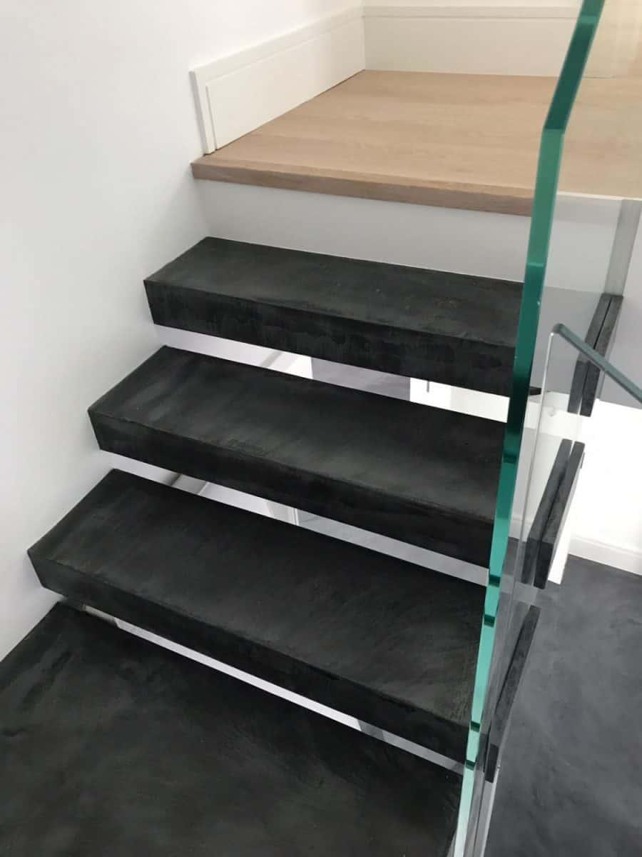 Open plan stair case