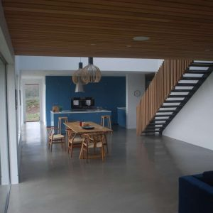Interior shot of polished concrete flooring