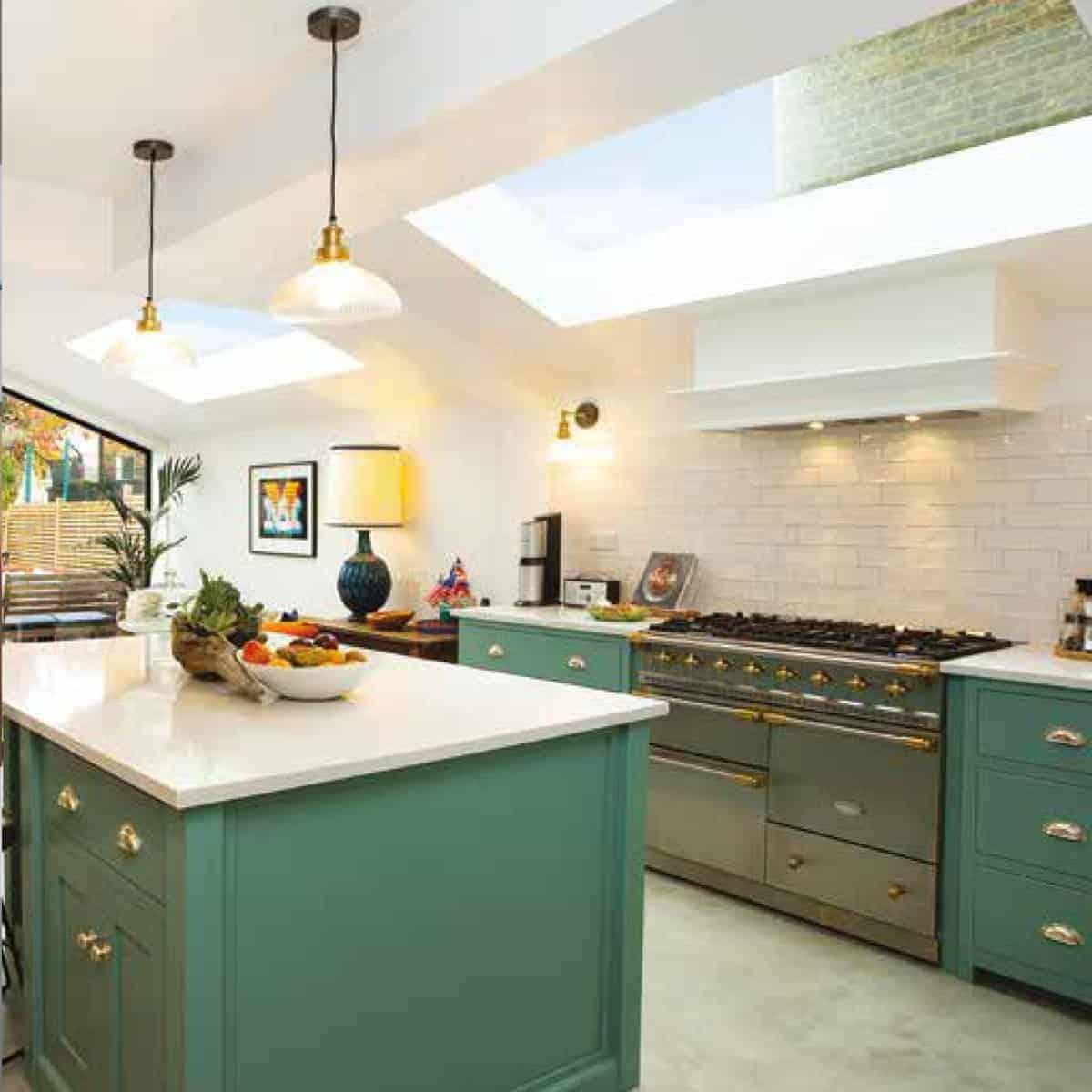 LA inspired kitchen interior